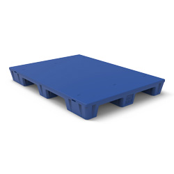 "55"" x 39"" Smooth Top Pallet, 4-Way, Blue"