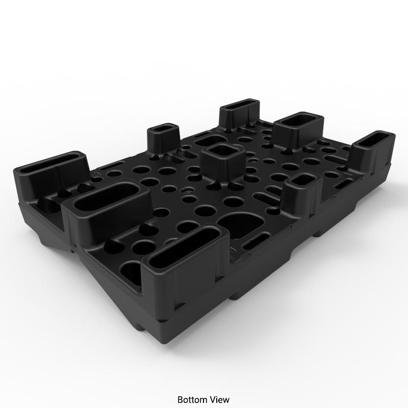 30in Black Nestable Roll Pallet Rp3048s00 B Stratis