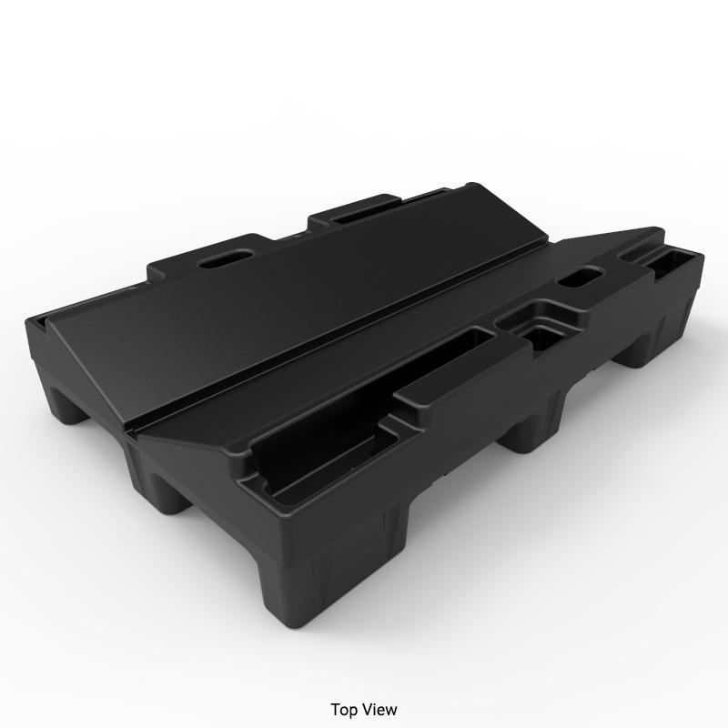 30in Black Plastic Roll Pallet Rp3048s48 B Stratis