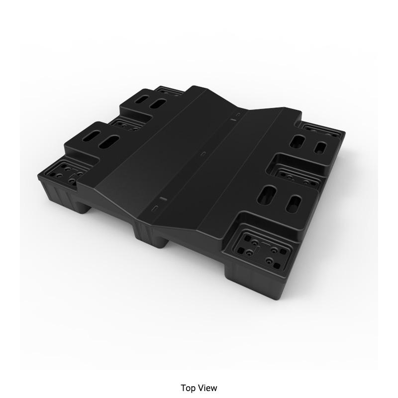 48in Black Nestable Roll Pallet Rp4842s00 B Stratis