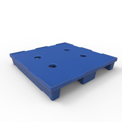 "36"" x 36"" Stackable Pallet, 2-Way Fork Entry, Blue"