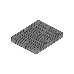 "48"" x 42"" Double Sided Stackable Pallet, 4-Way, Black"