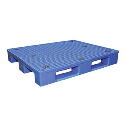 Multipurpose plastic pallet 48x40x7 in, 4-way, blue, Vestil plps-4840