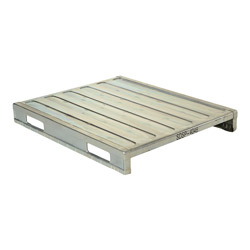 Rackable galvanized steel pallet 47x40x6 in, 4-way, Vestil sdsp-4048