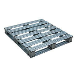 Rackable galvanized steel pallet 36x36x4.75 in, 4-way, Vestil spl-3636