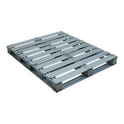 Rackable galvanized steel pallet 48x40x4.75 in, 2-way, Vestil spl-4048