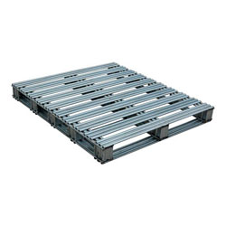 Rackable galvanized steel pallet 48x42x4.75 in, 2-way, Vestil spl-4248